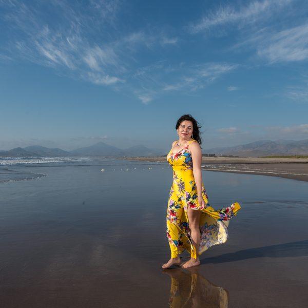 sesión fotos en la playa